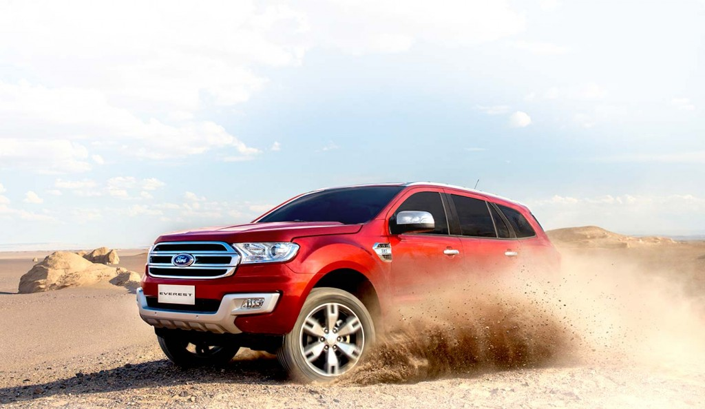 Ford Everest designed to tackle rough terrain